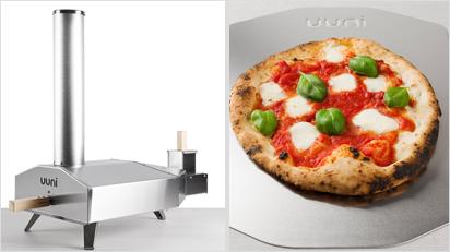 Der Uuni Holzofen mit Steinboden: für original italienische Pizza.