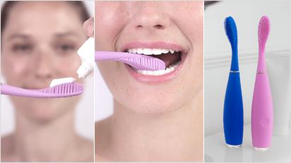 Die Zahnbürste mit dem Namen ISSA gibt es in vier Farben: Mintgrün, Lavendel, Blau und Schwarz.