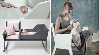 rockid babywiege und schaukelstuhl in einem. Black Bedroom Furniture Sets. Home Design Ideas