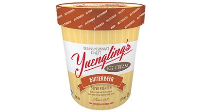 Butterbier-Eis inspiriert von den Harry Potter-Geschichten.