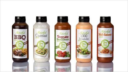 Fünf verschiedene Nutriful Sauces für gesunde Grill-Abende.
