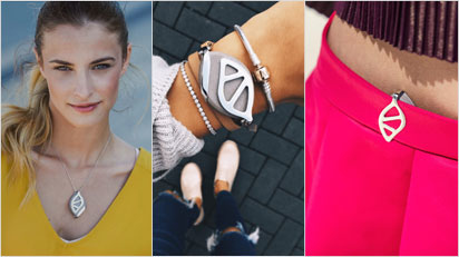 Leaf kann als Kette, Armband oder Clip getragen werden. (Bilder: https://webshop.bellabeat.com/)