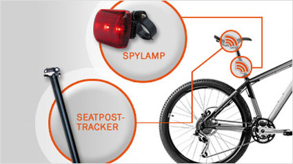 kingneed t18 bicycle gps tracker with bike led tail light