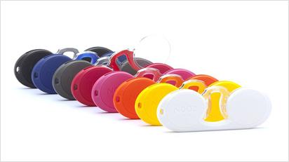 Nooz ist mit Brillenstegen und Etuis in vielen verschiedenen Farben erhältlich …