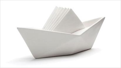 Bei diesem Schiff sind nur die Servietten aus Papier.