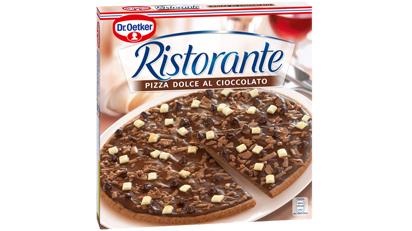 Schokoladen-Pizza von Dr. Oetker.
