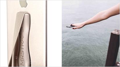 Der Gedanke dahinter ist simpel: eine Lasche hinten dran am Smartphone. So muss nicht mehr mit einer Hand fotografiert und gleichzeitig das Handy gehalten werden.