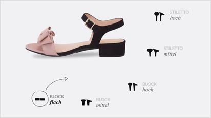Bei den Schuhen von Mime et moi musst Du Dich nicht für eine Absatzhöhe entscheiden - du kannst Dir einfach Wechselabsätze mitnehmen.