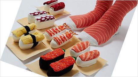 großer Verkauf Farben und auffällig der Verkauf von Schuhen Sushi Socken aus Japan.