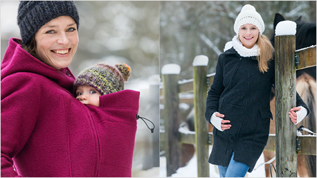Wandelbare Jacken für Eltern.