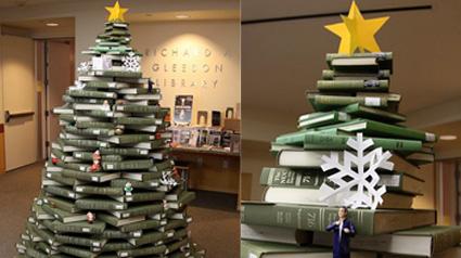Navidad con reciclaje - Arbol de navidad con libros ...