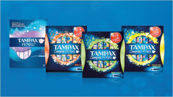 … y Tampax Compak Pearl con aplicador para colocar más fácilmente.