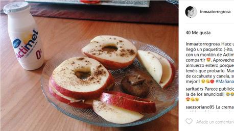 La trndiana angelatorregorsa7 comparte su desayuno con #MañanasActimel