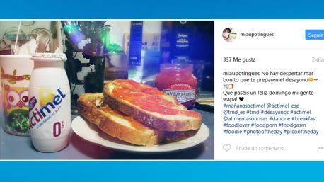 Compartimos nuestras publicaciones con el hashtag #MañanasActimel