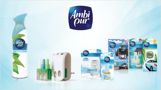 Con los productos de la gama Ambi Pur podremos disfrutar de aromas agradables en cualquier momento y lugar, incluso en el coche.
