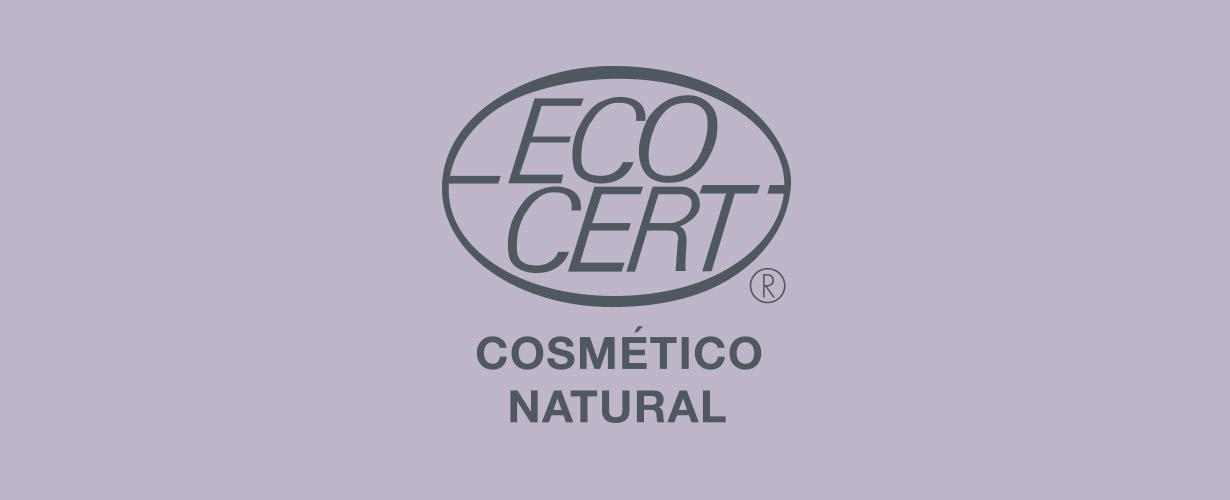 … con certificado ECOCERT por la utilización de ingredientes procedentes de recursos renovables y un 99 % de ingredientes de origen natural.
