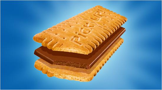 Bahlsen ha creado una galleta crujiente con auténtica tableta de chocolate con leche en su interior…