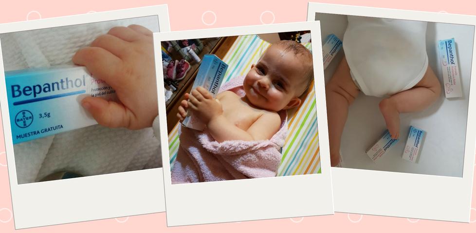Las primeras pruebas de los trndianos amartinter, Tatianacb93 y VAVACO con Bepanthol® Pomada Protectora Bebé.
