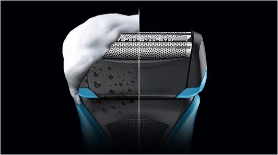 diseñada especialmente para realizar un afeitado tanto en seco y mojado, como con espuma.