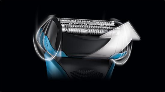 Gracias a su cabezal pivotante y la cuchilla OptiBlade, la WaterFlex se adapta al contorno del rostro…