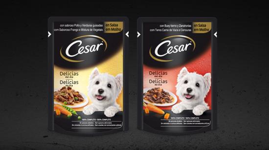 Cesar ha creado las primeras bolsitas con alimentación húmeda, un cómodo y novedoso formato monodosis…