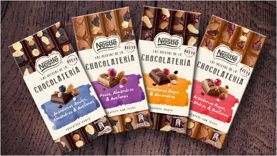 Las Recetas de la Chocolatería son tabletas de chocolate premium disponibles en 4 variedades distintas.