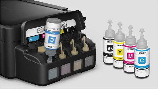 …con tanques de tinta recargables que cuentan con tinta suficiente para imprimir durante 2 años.