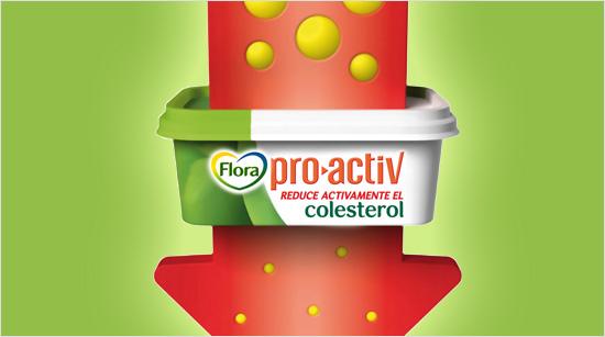 La margarina Flora pro.activ fue pionera en el mercado español siendo el primer alimento funcional que reduce el colesterol.