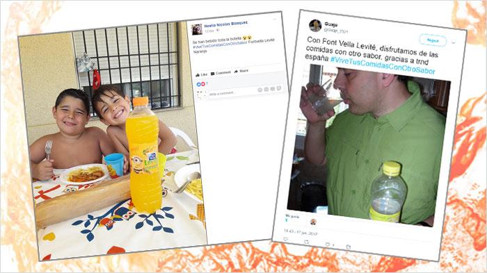 Font Vella Levité en las Redes Sociales
