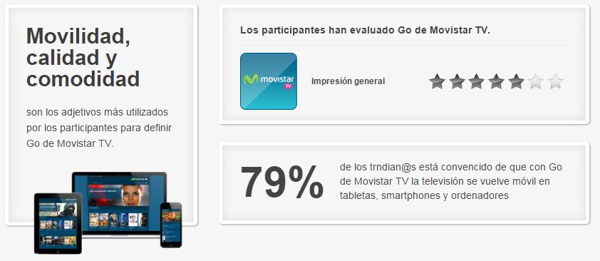 Resultados del proyecto Go de Movistar TV