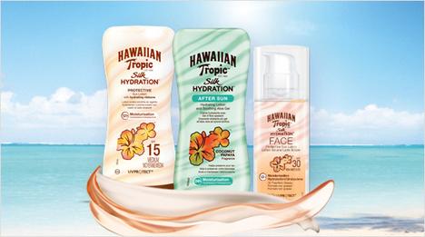 ... Hawaiian Tropic ha lanzado Silk Hydration, la primera línea solar son cintas de seda hidratantes...