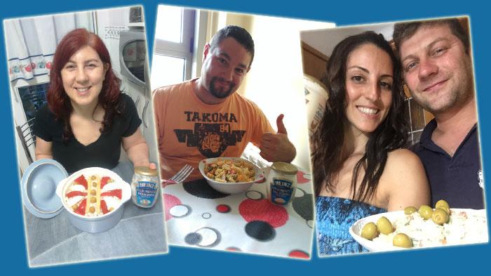 Los trndianos Luzylasanlas, parrich y laurita2304 con Heinz Realmente Deliciosa