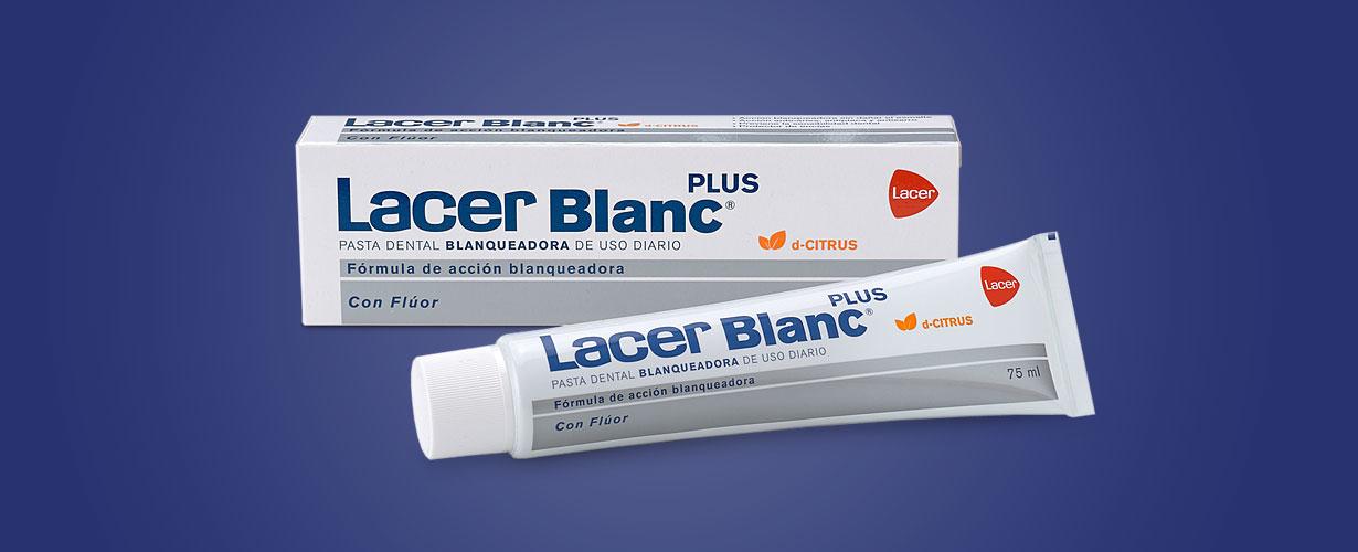 … con una pasta dental diaria como Lacer Blanc Plus Citrus que tiene un nivel muy bajo de abrasivos…