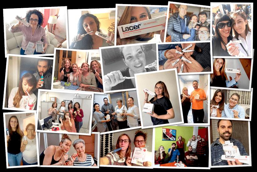 Participantes en la campaña Gel dentífrico Lacer