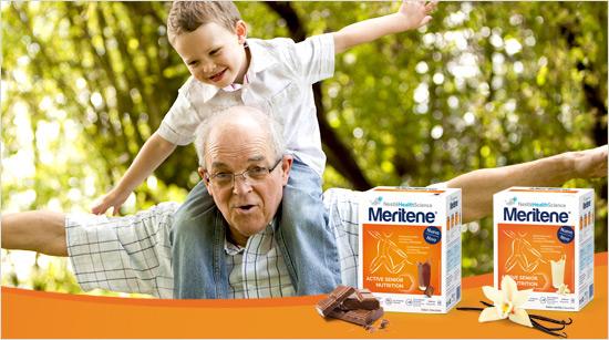 Meritene es el suplemento nutricional con proteínas, vitaminas y minerales que nos puede ayudar a alcanzar y mantener un adecuado estado nutricional cuando la dieta diaria no es suficiente*.