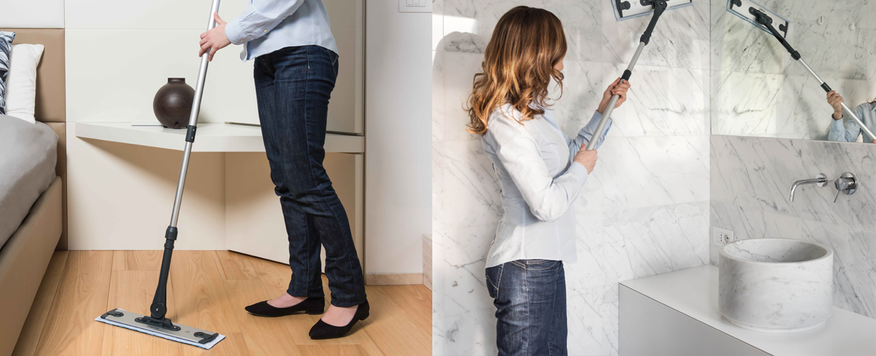 … limpia e higieniza los suelos y superficies verticales de nuestro hogar…