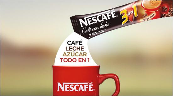 Los sobres de NESCAFÉ 3en1 son muy cómodos porque nos simplifican la preparación: en un sobre tenemos el café, la leche y el azúcar...