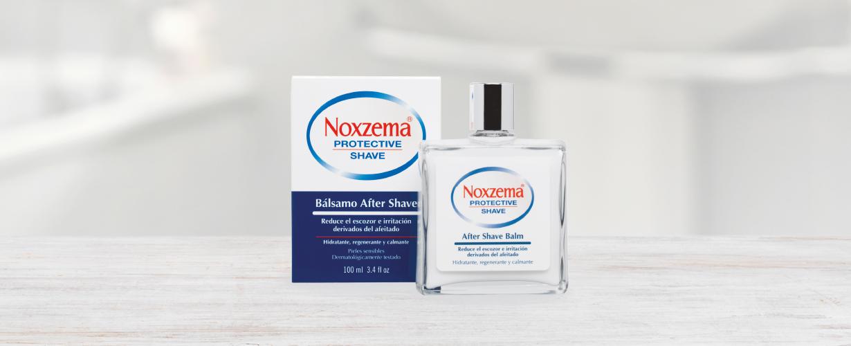 … junto con el Aftershave de Noxzema®para una piel hidratada, regenerada y calmada.