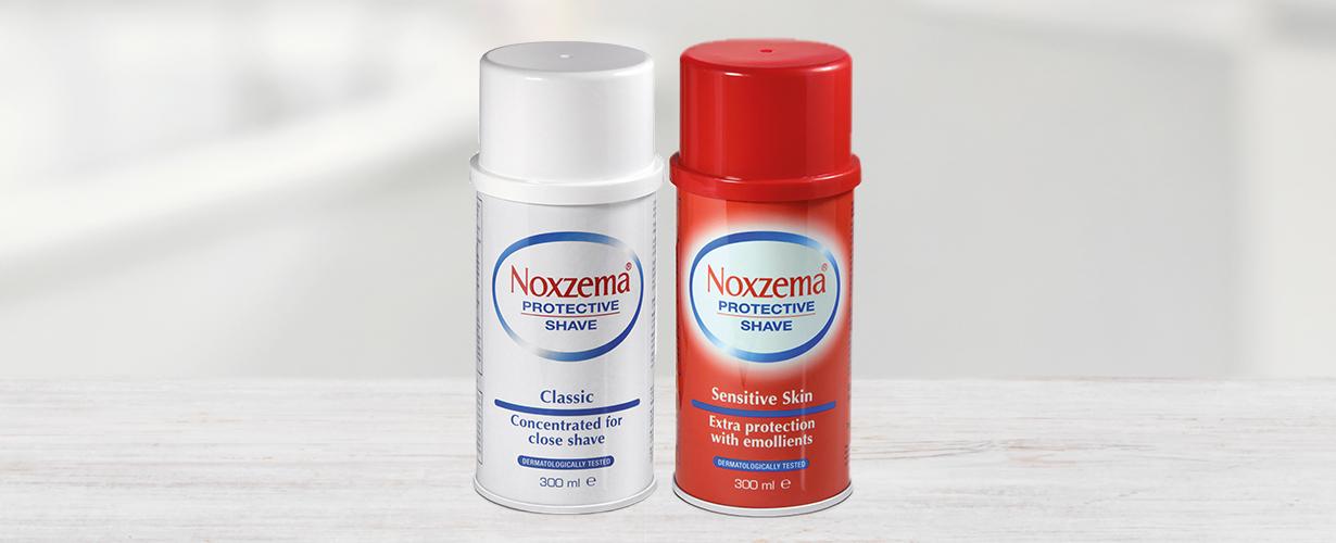 Las espumas Sensitivey Classicde Noxzema®para un afeitado más cuidado…