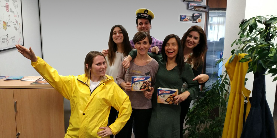 ¡El equipo Pescanova nos da la bienvenida!