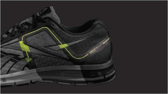 Gracias a la tecnología SmoothFuse se confecciona una zapatilla sin costuras, para evitar rozaduras y maximizar el confort, a la vez que se consigue estabilidad y flexibilidad.