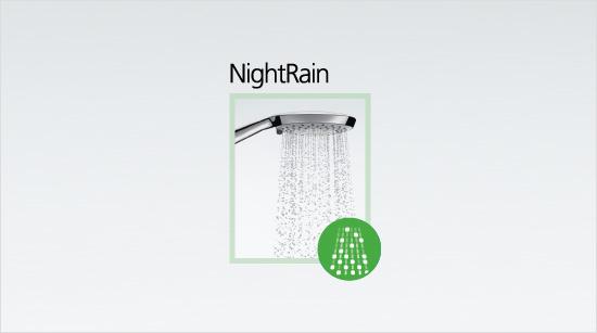 … y una función relajante que da sensación de confort a la piel a la vez que ahorra un mínimo del 25% de agua sobre la función Rain.
