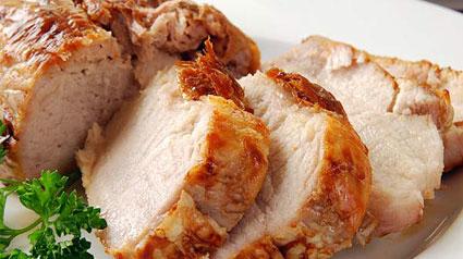 trnd Lomo de cerdo a la sal con naranjas confitadas, tomillo y azúcar moreno