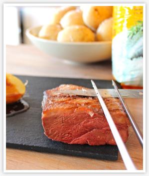 Sal Costa alta cocina con carne