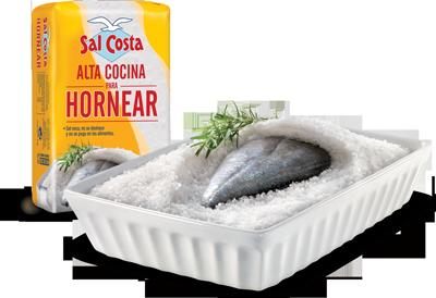 Sal Costa alta cocina con pez