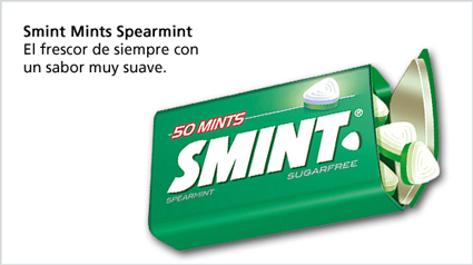Smint Mints Spearmint.