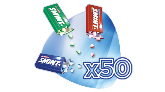… porque igual que sucede con Smint, son caramelos sin azúcar.