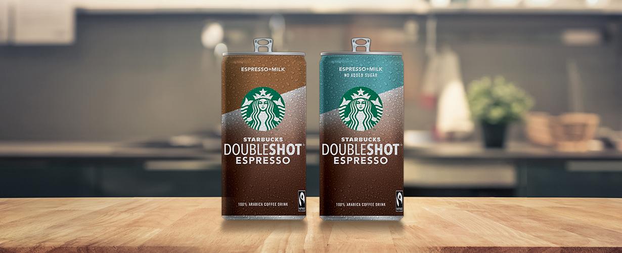 Gracias a su práctico envase en lata nos refrescaremos con Starbucks Doubleshot donde y cuando queramos.