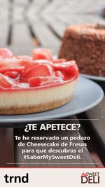 Invita a tus amig@s a un trozo de Cheescake de fresas
