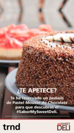 Invita a tus amig@s a un pedazo de Pastel Mousse de Chocolate